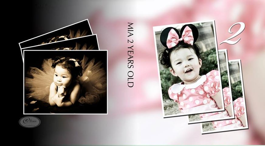 birthday album design ; Mia
