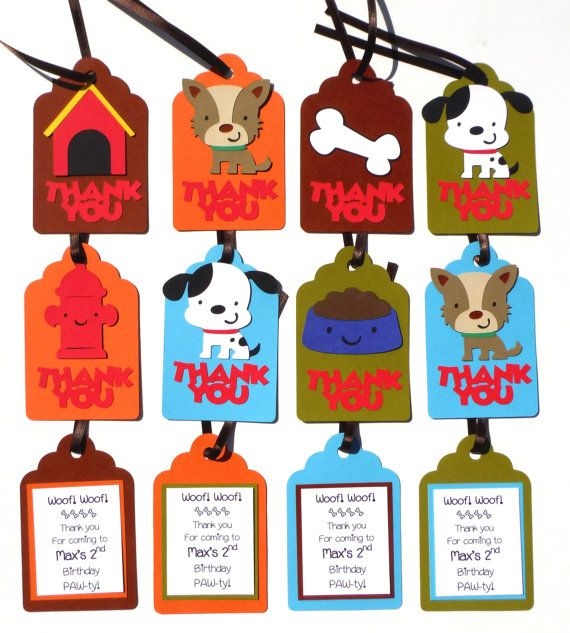 birthday bag tags ; 474b9b37fd69ffc97ea6351407f65548--puppy-birthday-third-birthday