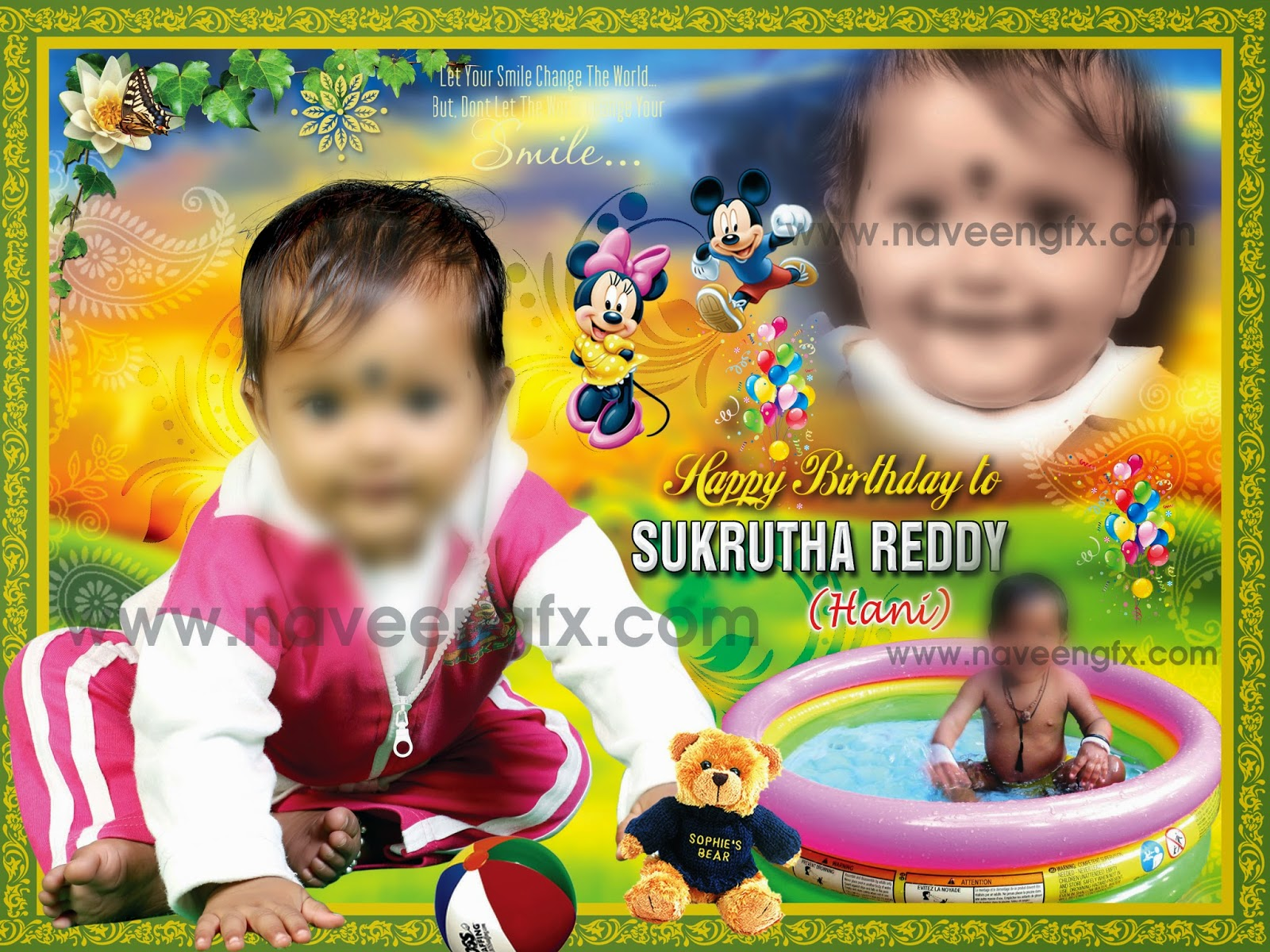 birthday banner psd templates free download ; 5x8_02