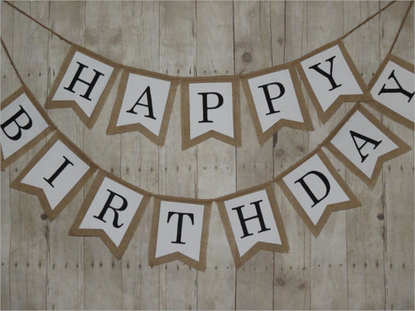 birthday banner psd templates free download ; Birthday-Pennant-Banner-Template