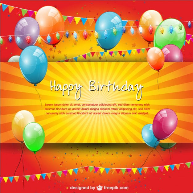 birthday banner psd templates free download ; birthday-party-balloons-and-garlands-card_23-2147491603