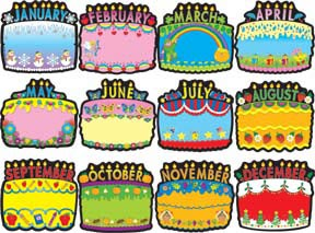 birthday bulletin board borders ; 34404