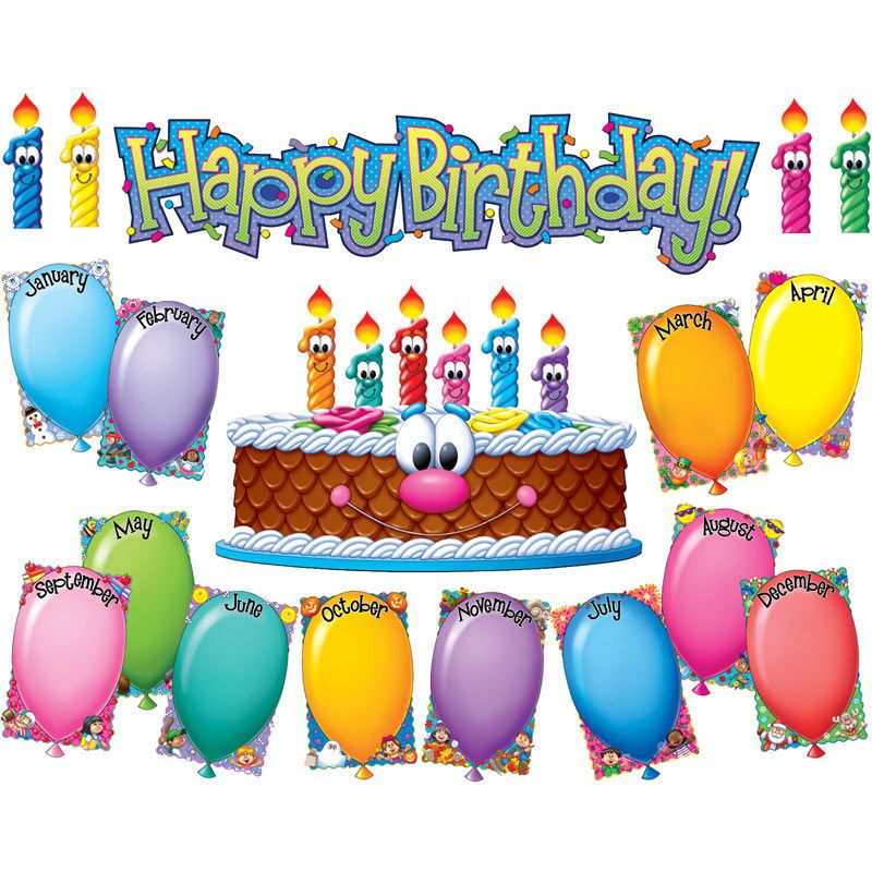 birthday bulletin board borders ; 701311