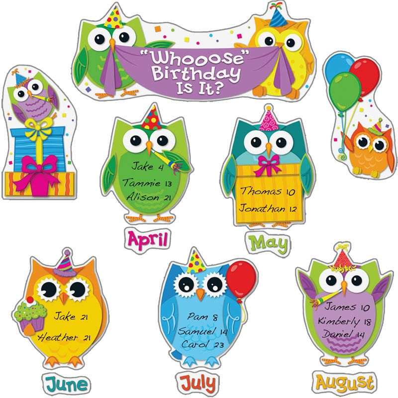 birthday bulletin board borders ; 702196