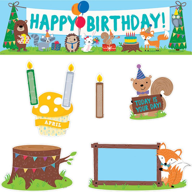 birthday bulletin board borders ; 704885