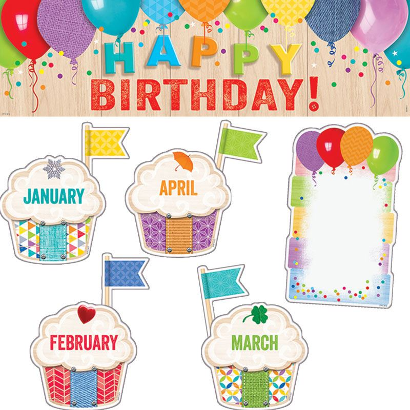 birthday bulletin board borders ; 704892