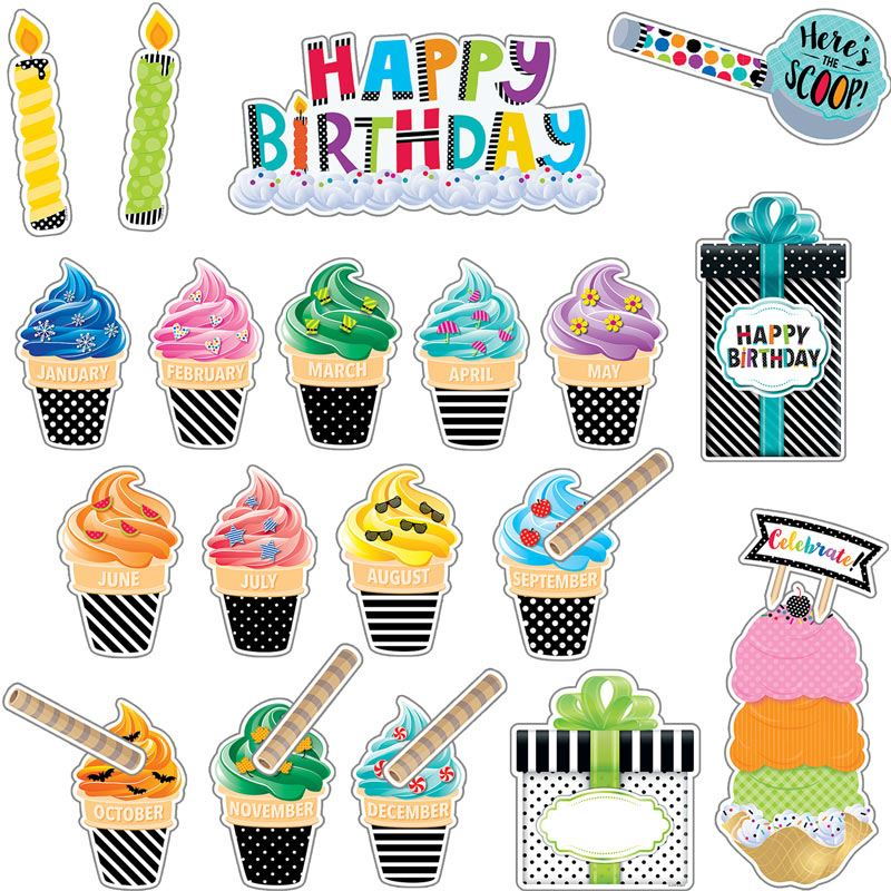 birthday bulletin board borders ; 705533