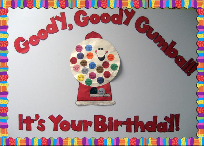 birthday bulletin board borders ; Goody-Goody-Gumball-Birthday-Wall-Display