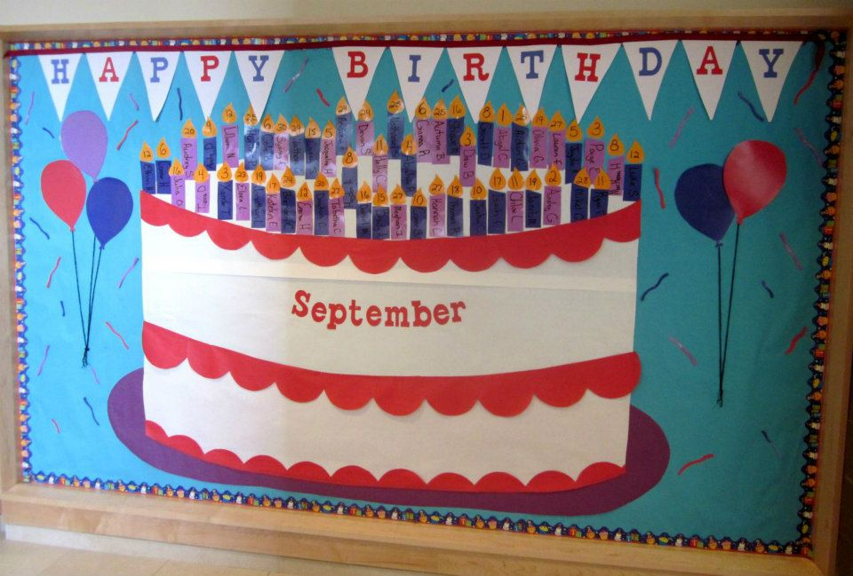 birthday bulletin board borders ; birthday-bulletin-board-ideas-for-preschool