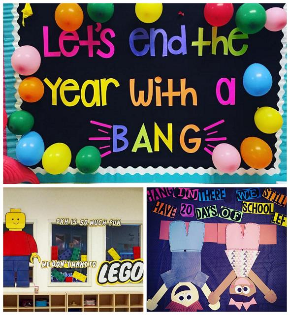 birthday bulletin board borders ; end-of-school-year-bulletin-board-ideas