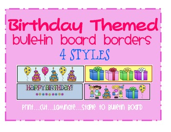 birthday bulletin board borders ; original-257758-1
