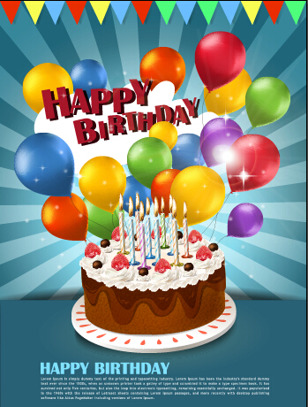 birthday cake balloons picture ; Cake-and-colorful-balloons-birthday-background