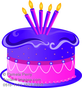 birthday cake candles clipart ; 0515-1101-1523-0327_cartoon_birthday_cake_with_five_candles