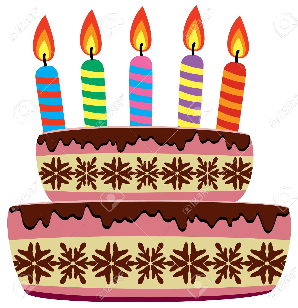 birthday cake candles clipart ; 9206919-vector-birthday-cake-with-burning-candles