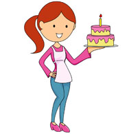 birthday cake candles clipart ; TN_girl-holding-birthday-cake-with-candle-111