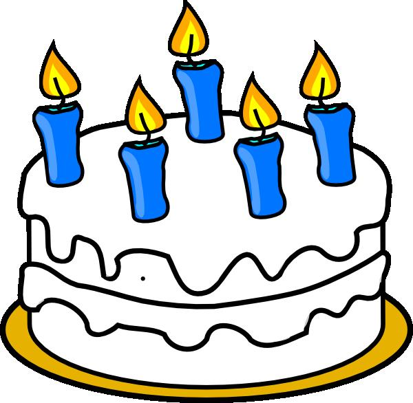 birthday cake candles clipart ; bday-cake-to-color-hi