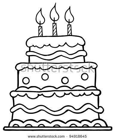 birthday cake cartoon drawing ; cozy-design-birthday-cake-outline-cartoon-vector-illustration-stock-printable-clip-art-images-drawing-no-of