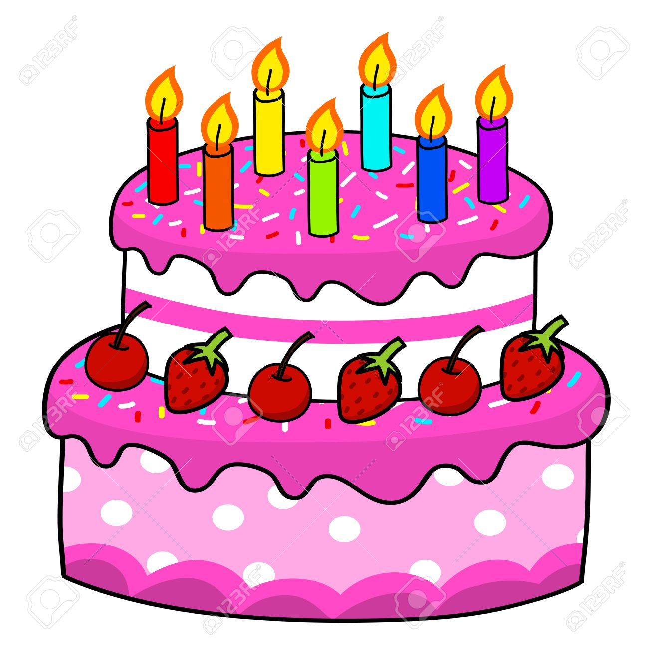 birthday cake drawing cartoon ; 15356747-cartoon-cake-hand-drawing-vector
