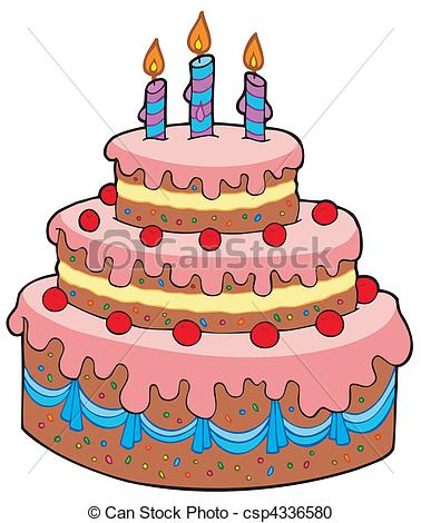 birthday cake drawing cartoon ; big-cartoon-birthday-cake-vector-clipart_csp4336580