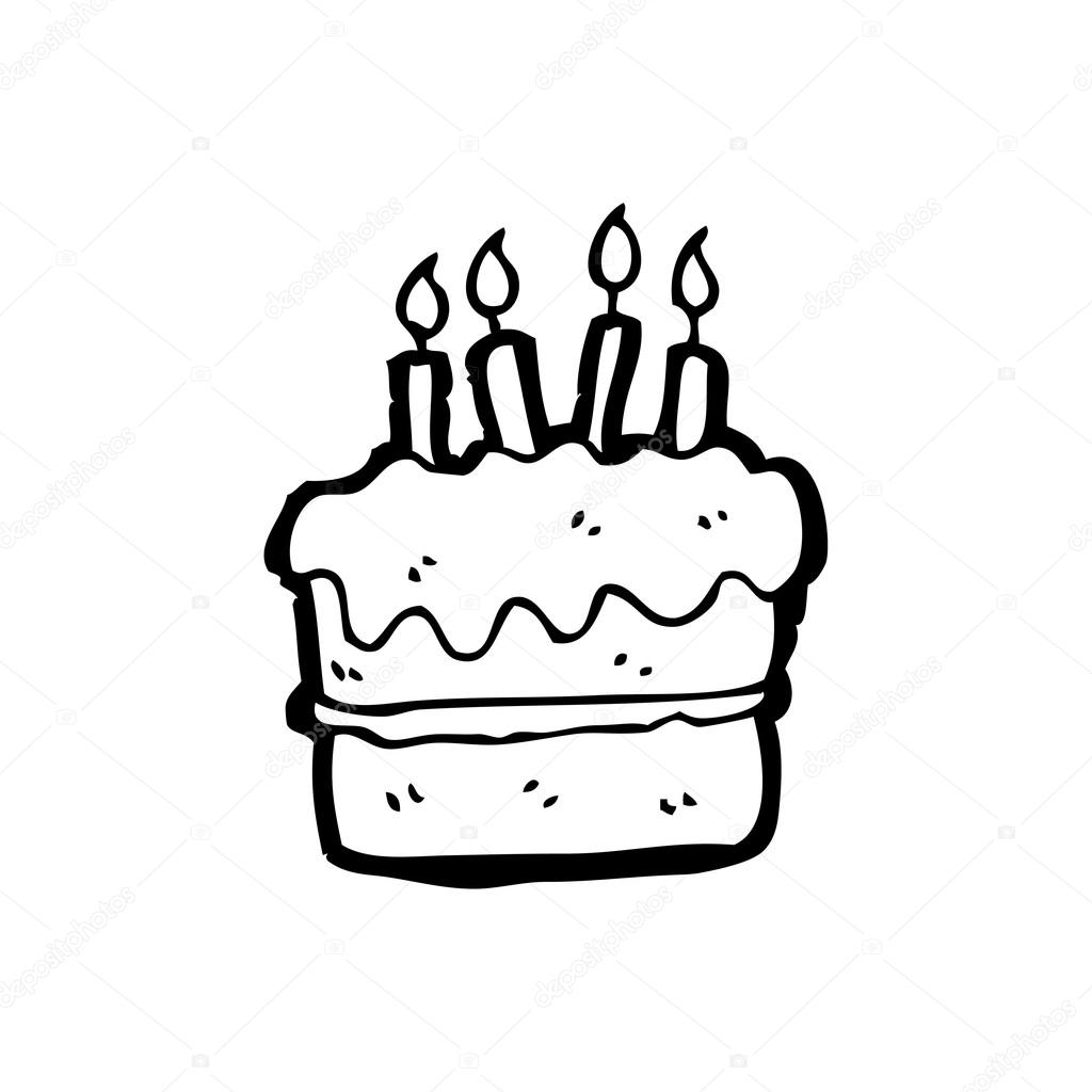 birthday cake drawing cartoon ; depositphotos_19763611-stock-illustration-birthday-cake-cartoon