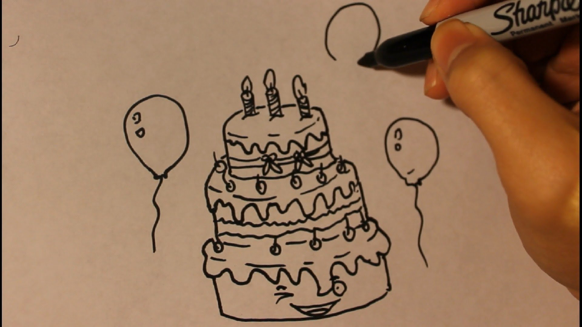 birthday cake drawing cartoon ; maxresdefault