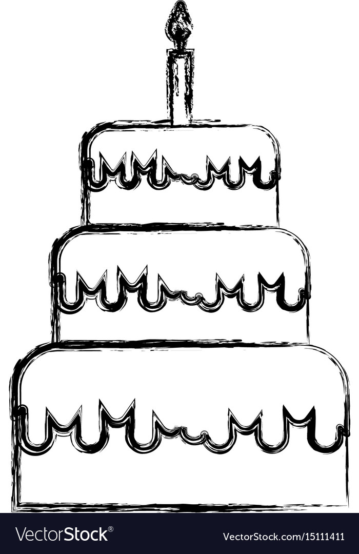 birthday cake drawing cartoon ; sketch-draw-birthday-cake-cartoon-vector-15111411