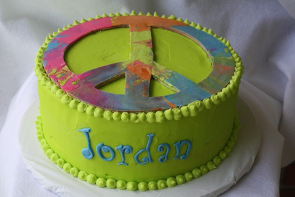 birthday cake peace sign ; IMG_1334-Tie-dyed-Peace-Sign-Cake-590x393