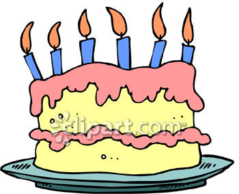 birthday cake with candles clipart ; 0060-0909-2512-1720_Double_Layer_Birthday_Cake_With_Candles_clipart_image