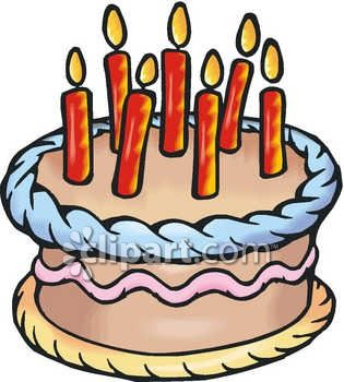 birthday cake with candles clipart ; 0060-0910-1812-3824_A_Birthday_Cake_With_Candles_On_Top_clipart_image