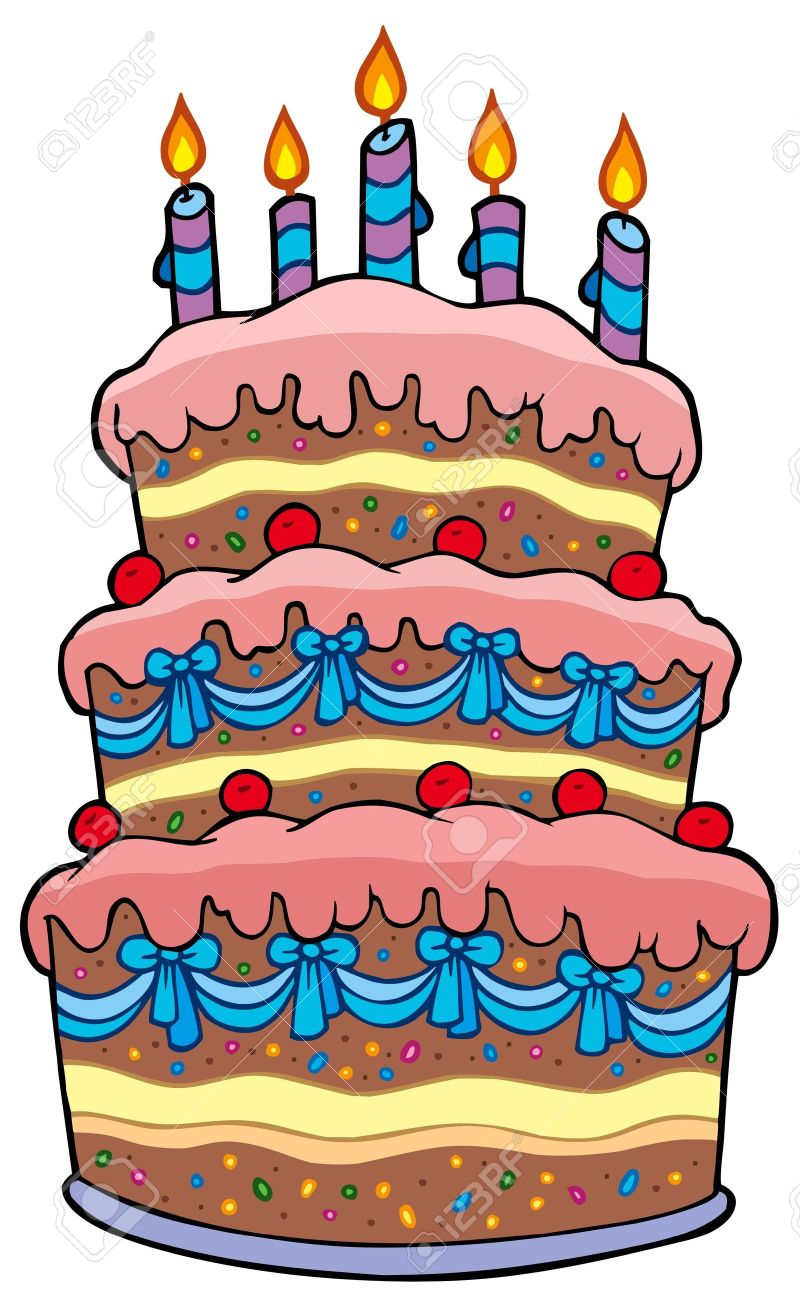 birthday cake with candles clipart ; 7929286-big-cartoon-cake-with-candles-illustration-