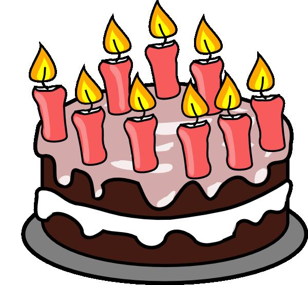 birthday cake with candles clipart ; 9th-birthday-cake-hi
