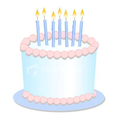 birthday cake with candles clipart ; Birthday-Cake-Candles-Clip-Art