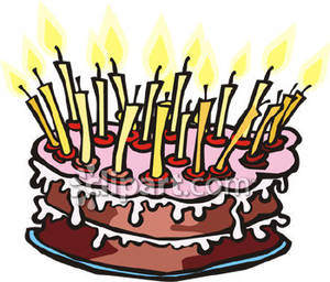 birthday cake with candles clipart ; Birthday_Cake_with_Lots_Candles_Royalty_Free_Clipart_Picture_090131-151169-475042