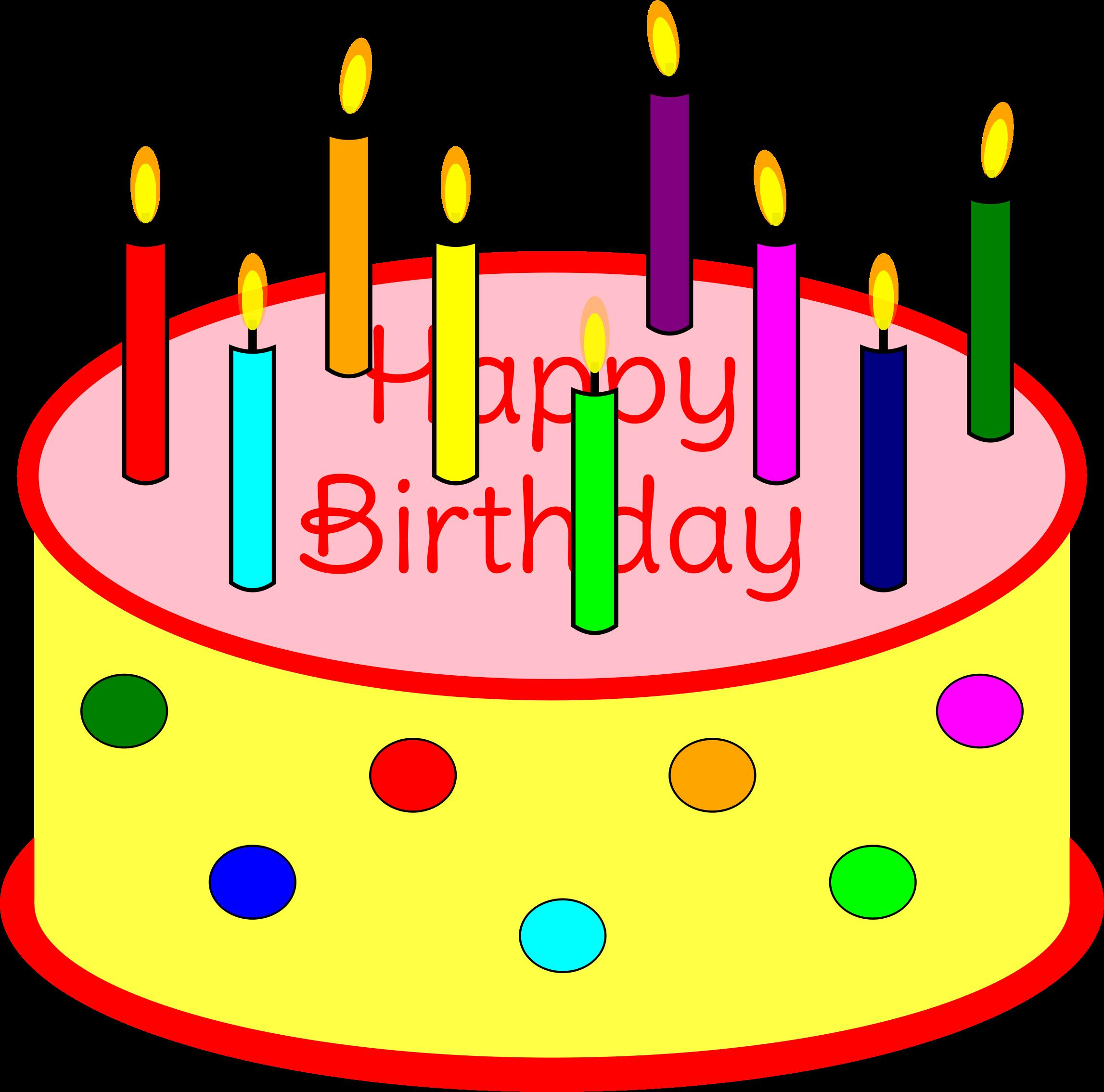 birthday cake with candles clipart ; bdaycake