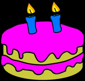 birthday cake with candles clipart ; birthday-cake-2-candles-md