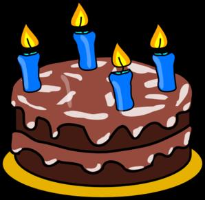 birthday cake with candles clipart ; birthday-cake-four-candles-md