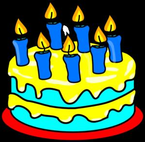 birthday cake with candles clipart ; cake-7-candles-md