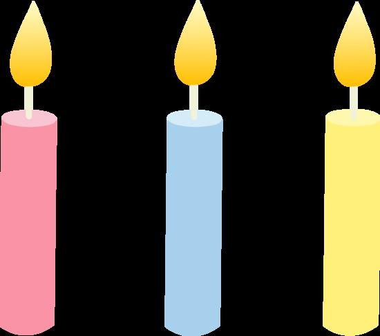 birthday cake with candles clipart ; holidays_birthday_candles_trio_2