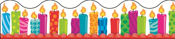 birthday candle border ; 0001307