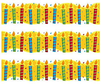 birthday candle border ; 618ZvUmbqqL