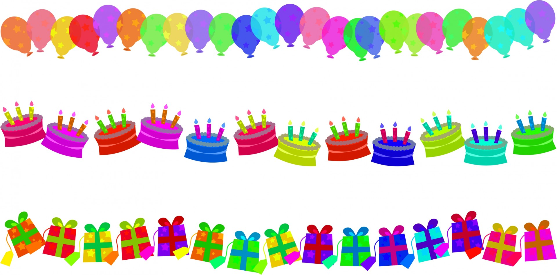 birthday candle border ; birthday-border-edges