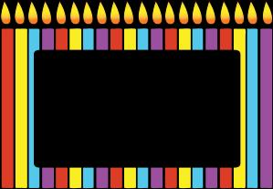 birthday candle border ; birthday-candles