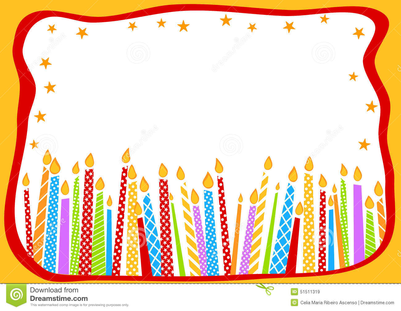 birthday candle border ; birthday-card-candles-happy-greeting-stars-border-frame-51511319