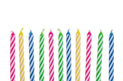 birthday candle border ; colorful-birthday-candles-10515896