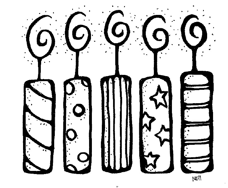 birthday candle clipart black and white ; birthday-candle-black-and-white-clipart-1