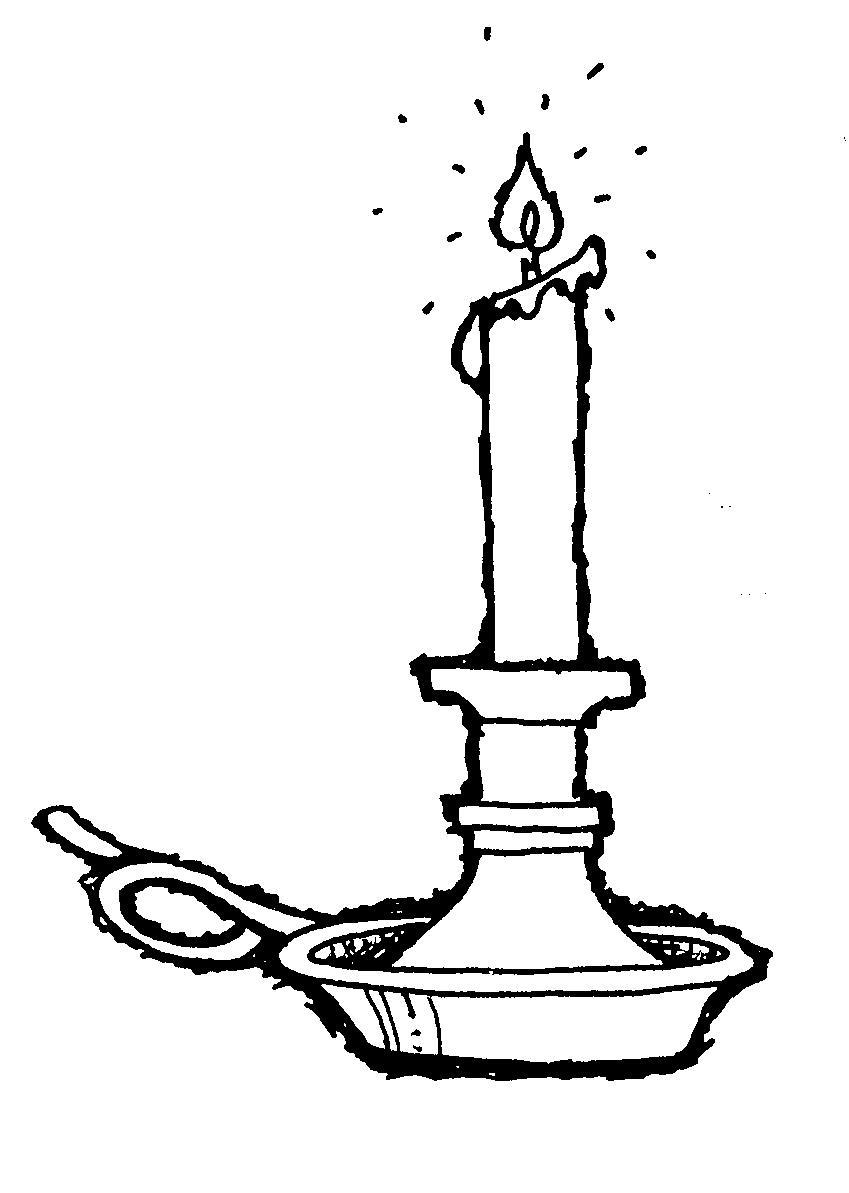 birthday candle clipart black and white ; candle-flame-clipart-black-and-white-cg_candlestick