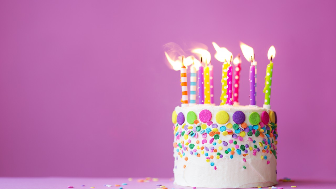 birthday candles wallpaper ; 607