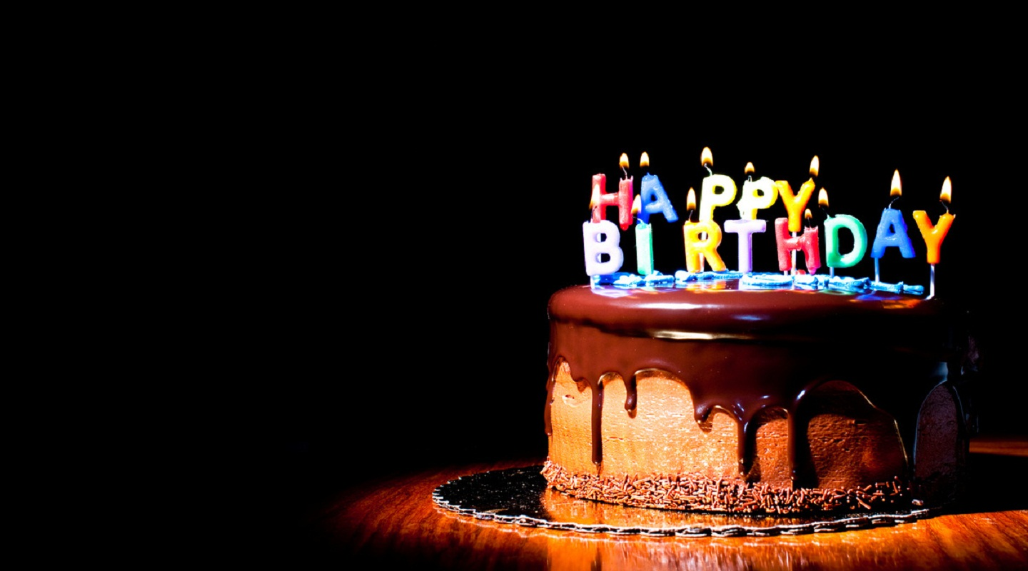 birthday candles wallpaper ; Birthday-chocolate-delicious-cake-with-candle-light