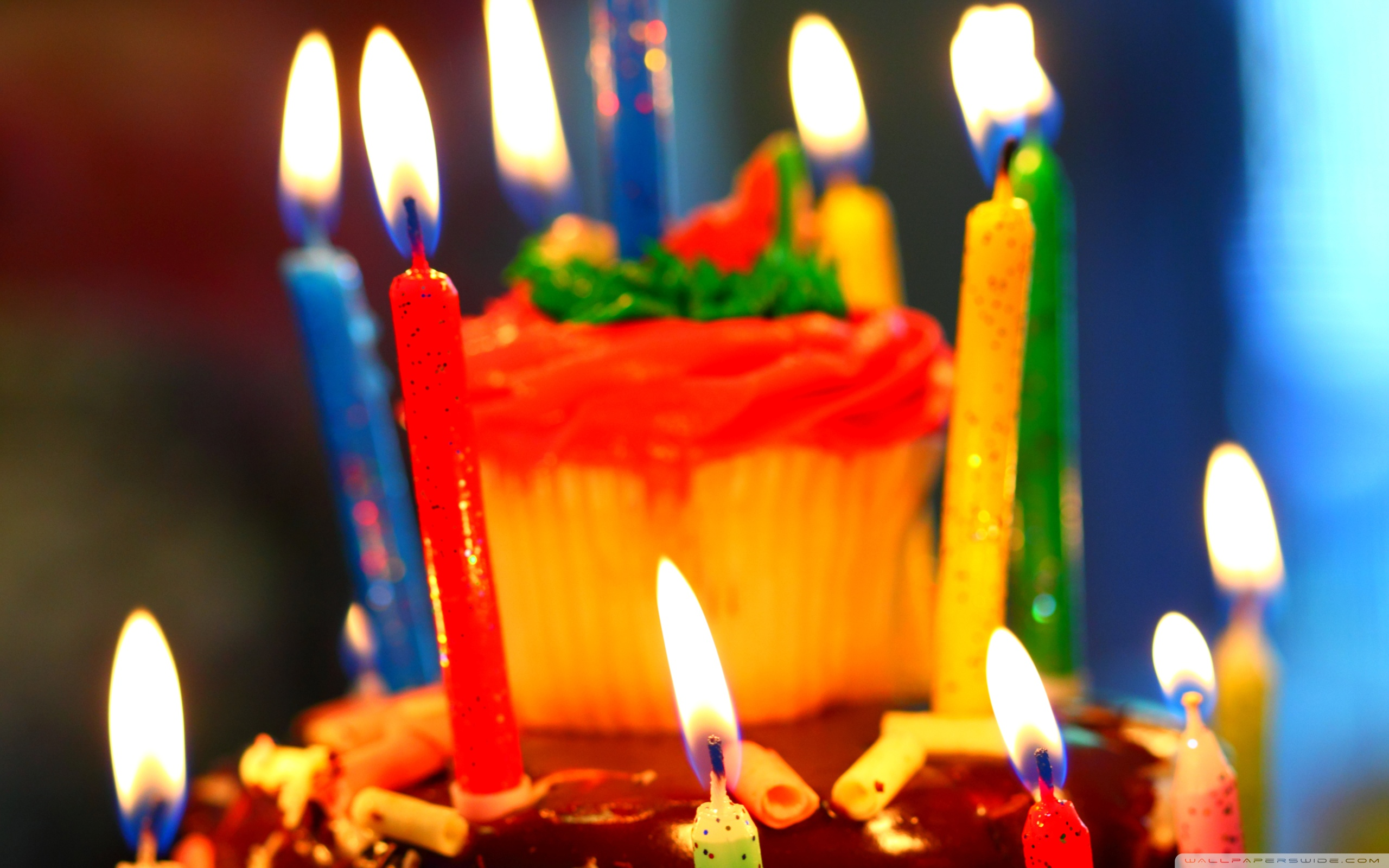 birthday candles wallpaper ; birthday_cake_and_candles-wallpaper-2560x1600