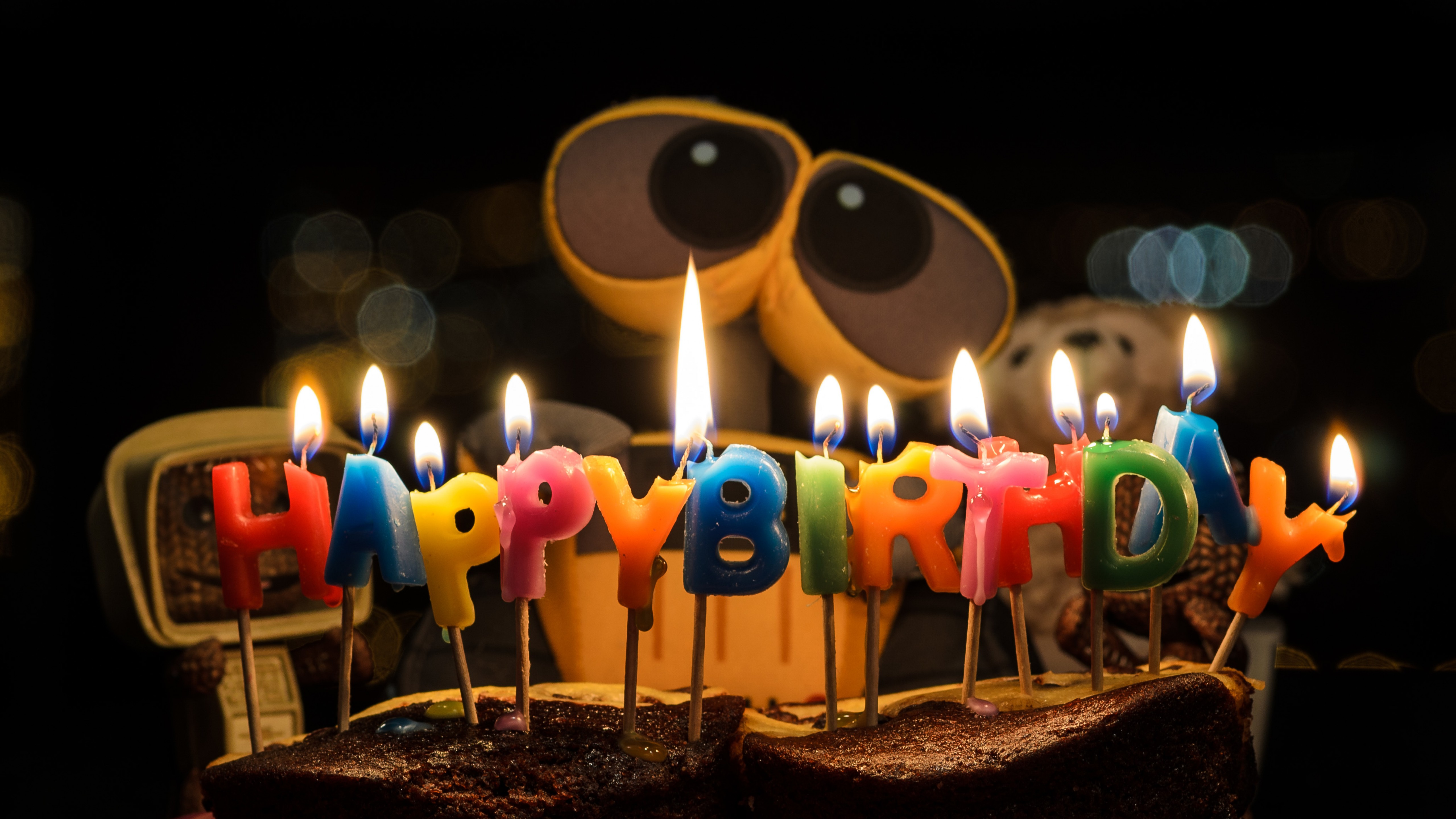 birthday candles wallpaper ; wall-e-5120x2880-happy-birthday-candle-lights-4k-6251